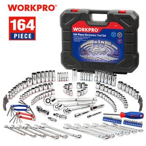 Set di mano WORKPRO 164PC Socket Set Meccanico Tool Set Autofficina Strumenti Chiavi cacciaviti Chiave Combinata Kit strumenti chiave di sfortuna