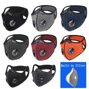 Masque vélo anti-poussière Designer respirante Masque avec Filtres Hommes Femmes Coton Masque Fournitures Sports de plein air Cyclisme Jersey