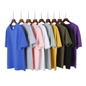 2019 kühlen T-shirt Männer 100% baumwolle Hip Hop Grundlegende Leere Weißes T-shirt Für Männer Mode Weiche t-shirts Sommer Top T Tops homme XXXL