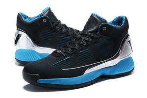 2019 Yeni D Gül 10 Işın kılıcı Siyah Beyaz Erkek Basketbol Ayakkabı Erkek Üst Kalite Derrick Rose Ayakkabı 10 Spor Spor ayakkabıları Tasarımcı Ayakkabı