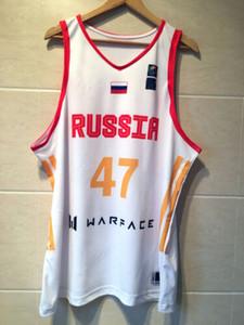 Throwback Андрей Кириленко #47 Россия баскетбол Майки хип-хоп АК 47 Майки печать на заказ любое имя номер 4XL 5xl 6XL Джерси