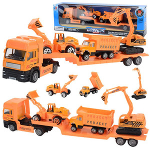 Set Big Size Alloy Helicopter Aircraft Engineering Novelty Games Car Tractor Toy Dump Truck Model Classic Kids Gift For Children
