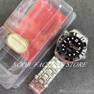 Luxury VS Factory 007 James Bond 300m Dive Master Watch Series 42mm Mens Watches Black Ceramic Bezel Cal. 8800 Automatic Wristwatches
