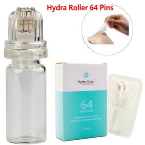 Hydra Roller 64 Pins Titanium Microneedle Dermaroller Stamp with gel tube 10ml Skin Care needle CE FDA
