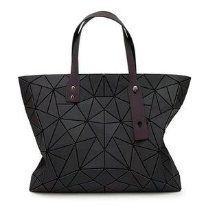 Baobao Bags Women Handbag Geometry Totes Sequins Mirror reflective Plain Folding Shoulder Bags Luminous Bao Bao Hologram