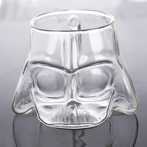 150ml Star Black Wars Knight White Soldier Stereo Creative Surroundings Modeling Glass Mug Milk Cup Home Decoration