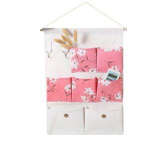 2020 New 7-cell Hanging Bag Foldable Hanging Wall Dormitory Storage Organizer Debris Storage Bag