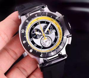 Vente en gros T048 rond T-Race édition limitée blanche étoiles 1853 chronographe à quartz Japon en caoutchouc Bracelet Hommes Montres Hommes Montres-bracelets