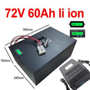 GTK alta capacidade 72v 60Ah li-ion n. o 72v 80ah lítio para Bicicletas de bateria de 3000w triciclo motorhome inverser +10A Carregador