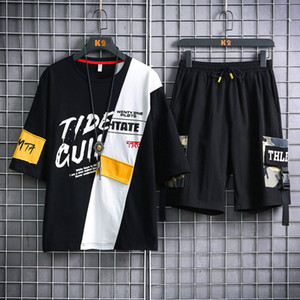 Summer Sets T-shirts+Shorts For Men Good Quality Men Cotton 2 Pieces Sets Short Pants Loose Casual Shorts Elastic Waist Size 3XL