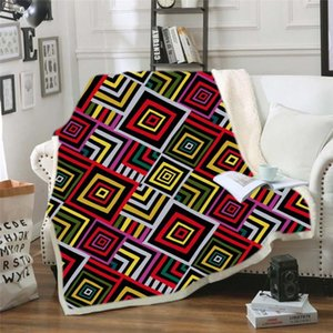 3D digital printing plaid blanket Couch Quilt Cover Travel Bedding Outlet Velvet Plush Throw Fleece Thicken Blankets Bedspread
