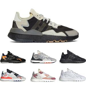 2019 chaussures de course pour les hommes Nite Jogger NOIR ET GRIS orange noir GRIS PACK triple ICE rouge gris blanc noir MINT 36-45