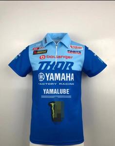 Nova Yamaha Team roupas fábrica POLO lapela de secagem rápida T-shirt DUCATI driver versão racing suit