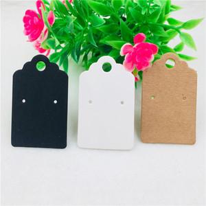 50Pcs / Lot tre colori Kraft schede in bianco Orecchini carta e OPP Borse Ear Stud per i gioielli accessori espositori da imballaggio Carte