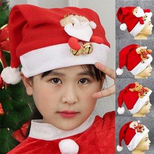 de Natal Hat Crianças Partido engraçado Cap Primavera Chapéu de Papai Noel Santa Costume Decorazioni natalizie Dropshipping # 30