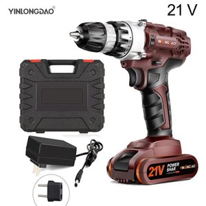 21V Lithium drill Electric Screwdriver Cordless Drill Lithium-Ion Battery Wireless Power Driver DIYTorque Power Tools