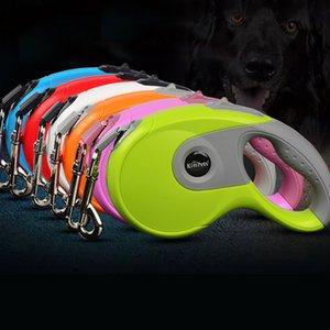 3M 5M Suministros retráctiles automáticos Collar de perro Correa que se extiende Cinta de la cuerda del perrito Pistas para caminar Liberación rápida para cachorro de gato