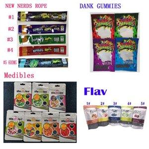 420 Flav Dank Gummies Risitas medibles nerds CUERDA infusión de caramelo bolsa de embalaje 710 Edibles embalaje bolsa de Mylar olor paquete Prueba de caramelo