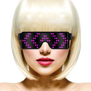 2019 New (No DIY)Magic LED holiday glasses, application protection, light-emitting glasses, USB load