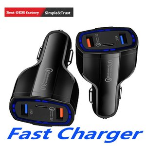 Сотовый телефон автомобильное зарядное устройство Dual USB QC3. 0 быстрая зарядка адаптер типа C смарт-зарядное устройство для iPhone Android Samsung смартфонов
