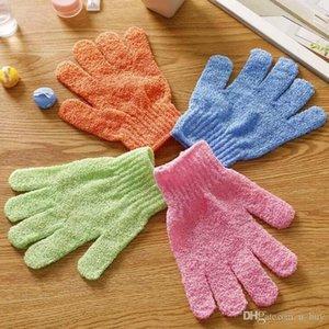 Moisturizing Spa Skin Care Cloth Bath Gloves Exfoliating Gloves Cloth Scrubber Face Body Bath Gloves Free Shipping