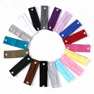 mit Knopf für Gesichtsmaske Stirnband Leuchtende Farbe elastischen Sport Band HAIR WRAPS Halter Sport Gym Yoga Cotton Kopftuch Zubehör D8506