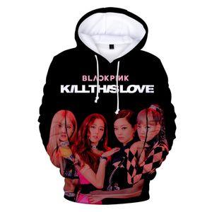 Korean KPOP Girl Group BLACKPINK Kill This Love Album ROSE LISA JISOO JENNIE 3D Print Women Hoodies Sweatshirts Couple Clothes