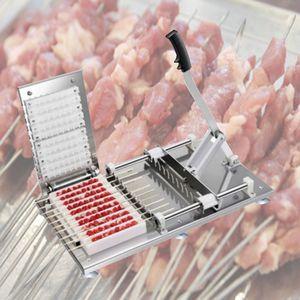 Sıcak 220 V Ticari Stripers Biftek Mutton Şiş Manuel Et Şiş Makinesi Döner Kebap Giyim Dize Makinesi Barbekü Çekimi Artefakt