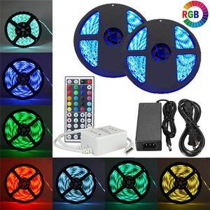 Luces flexibles SMD 5050 RGB LED SMD con MINI 24Key 44Key IR Remote RGB LED Controller