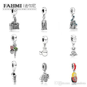 FAHMI 100% 925 Sterling Silver Limited Edition Party Dress Dangle Charm Running Shoe Castle Doll Pirate Ship Hanging Pendan