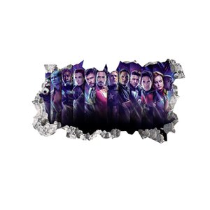 Black Panther Black Widows Avengers 3D Wall Decal Vinyl Self-adhesive Super Hero Decorative Sticker for Living Room and Boys Room