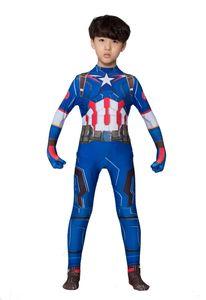 Marvel Superheld Captain America Cosplay Jumpsuits Kleidung Set Halloween Kostüme Stage Performance Kleidung für Kinder und Erwachsene Strumpfhosen
