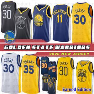 Golden State Warriors Hombres 2019 jersey retroceso 30 Stephen Curry 35 Kevin Durant 23 camisetas de baloncesto cosidas Draymond Green Nuevo