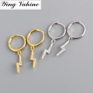 ying Vahine 100% 925 Sterling Silver CZ Pingente Brincos para Mulheres