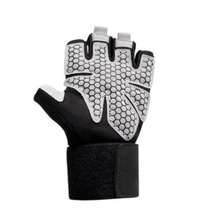 Fitness Gloves Gym Drawstring Bracer Gloves Breathable Cloth Wear-Resistant Microfiber Palm Boxing Weightlifting Hand Guard
