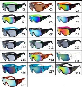 MOQ = 10pcs Hommes Lunettes De Soleil Marque Designer Oculos de Sol Grand Cadre Visage Domo Hommes Revêtement de Sport Lunettes Gafas De Sol Masculino B2030