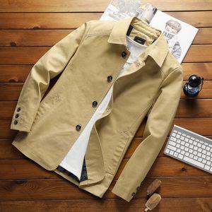 Men's pure cotton season Windbreaker coat thin jacket windbreaker men's autumn 35 middle-aged outer coat 40 years old