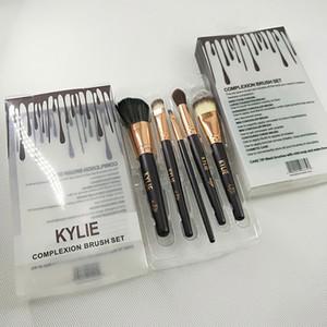 kylie Jenner 5pcs set Complexion Brush Set Nake Eyeshadow Palettes Foudation Makeup Brushes High Tech Make Up Tools.
