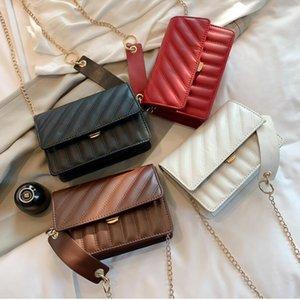 2019 4 Colors Hot Sale Brand Fashion Vintage Handbags Women bags Designer Handbags for Women Leather 19CM Chain Bag Crossbody Shoulder Bags