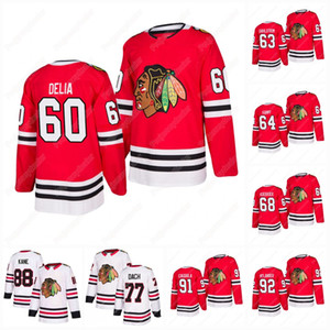 60 Collin Delia Chicago Blackhawks 2019-2020 Authentic Pro Jersey 63 Carl Dahlstrom 64 David Kampf Slater Koekkoek Drake Caggiula Nylander
