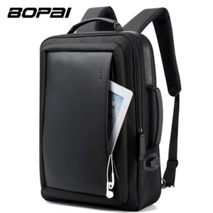 BOPAI Ingrandire Antifurto Laptop Backpack USB carica esterna 16 pollici zaino multifunzionale Borsa Borsa di corsa degli uomini scuola adolescenti