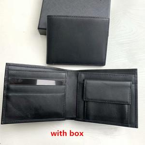 상자 작은 지갑 패션 정품 가죽 남성 고용량 지갑 Bifold 지갑 ID 카드 홀더 검은 색 짧은 고전 디자이너