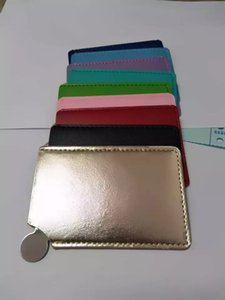ambalaj kaliteli VIP hediye Klasik logosu moda marka ayna küçük kare 9x5.5cm Mini ayna C (Anita Liao)