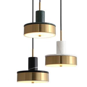 Pós-modernas de mármore nórdicos LED Luzes pendentes jantar sala da parede da sala de cabeceira quarto de banho Tabela Lâmpadas Decor Fixação
