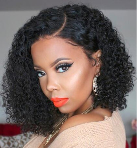 African Side Small Volume High Temperature Synthetic Hair Wig Curly Chemical Fiber Wig High Quality