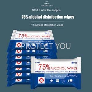 Desinfectar por mayor Toallitas suave algodón con alcohol antiséptico de ratón grande Wet Wipes Esterilización de primeros auxilios de limpieza mayorista
