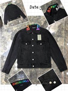 2020 New Luxury Designer Hommes Jeans Veste Hip Hop Hommes VESTE Vintage Blue Black Fashion Men Veste 026