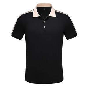 Sommer Designer Herren Polos 2019 Mode für Männer Top Turn-Down-Kragen Beiläufiges Geschäfts-Shirts T-Shirts