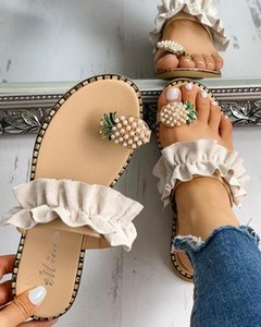 davidyue 2020 femmes Chaussures d'été de la plate-forme antidérapants Wedges talon haut femme extérieure Plage Chaussons Sandales Sapato Feminino