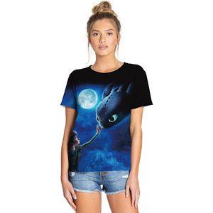 Modelo de impresión digital animal estrellado camiseta de manga corta de las mujeres camisas redondas del cuello de doming master master camiseta de secado rápido